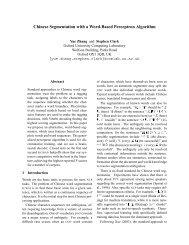 Chinese Segmentation with a Word-Based Perceptron Algorithm