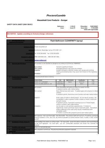 Flash Bathroom Spray Cleanfinity - PA00160607 - ScienceInTheBox