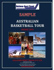 AUSTRALIAN BASKETBALL TOUR - Global Sports Academy