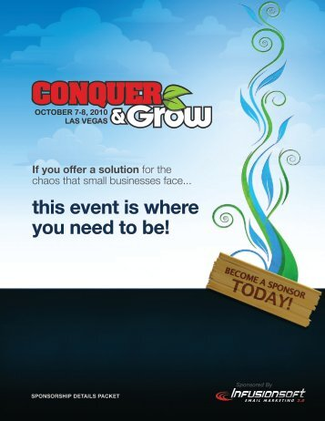 this event is where you need to be! - Infusionsoft