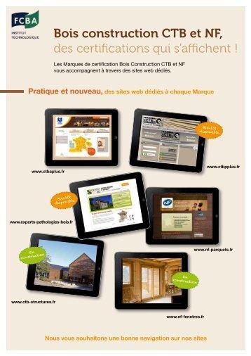 Bois construction CTB et NF, des certifications qui s'affichent !