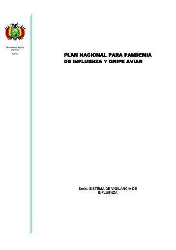 plan nacional para pandemia de influenza y gripe aviar de influenza ...