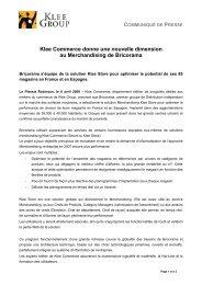 Klee Commerce donne une nouvelle dimension au ... - CXPLACE