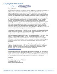 Abatement Letter and Form - Congregation B'nai Shalom