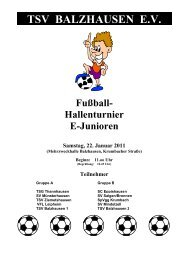 Hallenturnier E-Junioren Samstag, 22. Januar 2011 - TSV Balzhausen