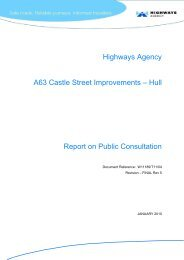 Highways Agency A63 Castle Street Improvements – Hull Report on ...