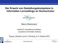 Marco Rieckmann - Globales Lernen in informellen Settings