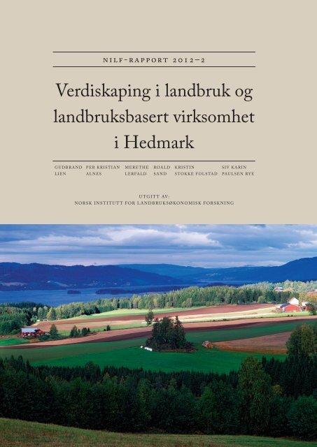 Verdiskaping i landbruk og landbruksbasert ... - Fylkesmannen.no