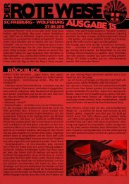 Der Rote Weise Nummer 15 - Wilde Jungs Freiburg