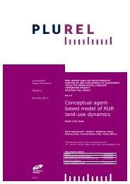 Conceptual agent- based model of RUR land-use dynamics - Plurel