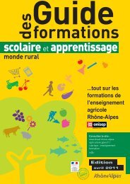 Enseignement agricole : Guide 2011 des formations ... - Handiplace
