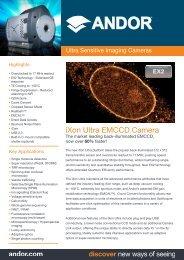 iXon Ultra EMCCD Camera - Andor Technology