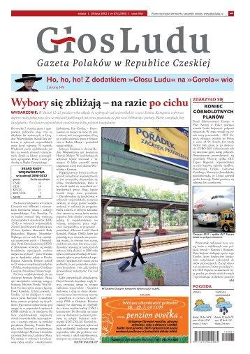 Wybory się zbliżają – na razie po cichu - GlosLudu.cz