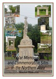 Northern Adelaide Teacher resource.pdf - Army Museum of South ...