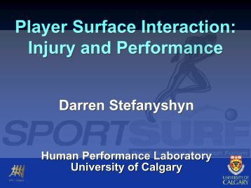 Player Surface Interaction: Injury and Performance - Sportsurf