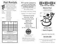 Pool Rentals - Lake Stevens School District #4