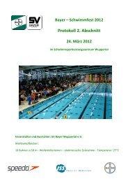 Protokoll für einen Abschnitt - SV Bayer Wuppertal