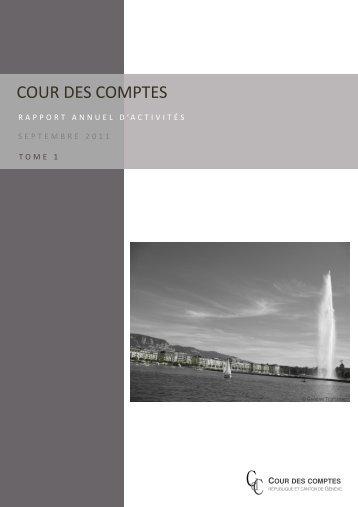 Consulter le rapport (tome 1) (PDF, 467 Ko) - Cour des comptes