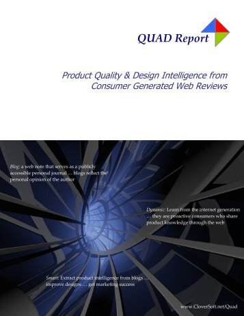 Introduction to the QUAD Report - CloverSoft
