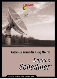 Automate Scheduler Using Macros