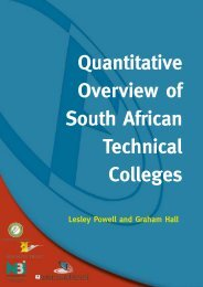Quantitative Overview of South African Technical Colleges