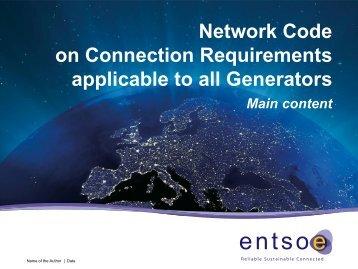 Presentation 2 - Connection Requirements - Eirgrid