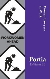 **Portia mag edition 26 - Victorian Women Lawyers