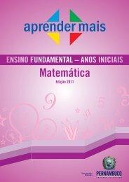 Aprender Mais_matemática_Anos iniciais - Secretaria de Educação ...
