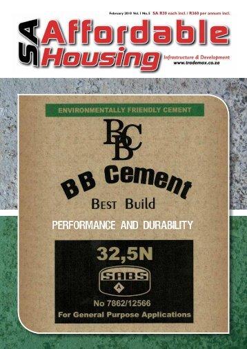 February 2010 Vol. 1 No. 5 SA R30 each incl. / R360 per annum incl.
