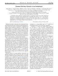 Quantum Metrology: Dynamics versus Entanglement - American ...