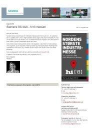 SC klub august 2013 - Siemens A/S