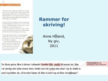Rammer for skriving - Lesesenteret