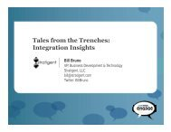 Tales from the Trenches: Integration Insights
