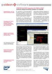 CIDEON AutoCAD Integration für EAM mit SAP