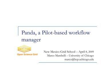 Panda, a Pilot-based workflow manager - Indico
