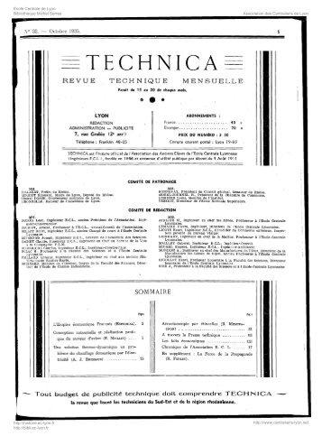 Revue Technica, année 1935, numéro 32 - Histoire de l'École ...