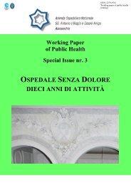 WP Special Issue 03/2013 - Ospedale senza dolore - Azienda ...