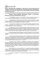 15. Approbation de l'avant projet définitif de l'opération d'extension ...