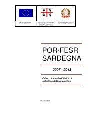 Por Fesr Sardegna 2007-2013 - Criteri di ammissibilità