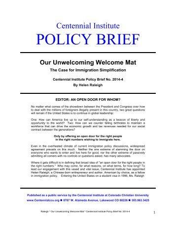 CI Policy Brief 2014-4