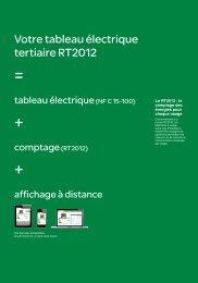 Votre tableau électrique tertiaire RT2012 - e-Catalogue
