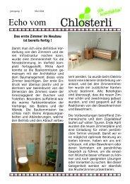 Ausgabe Mai - Altersheim Chlösterli, Unterägeri