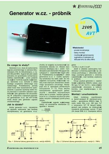 Generator w.cz. - próbnik (242KB) - Elportal