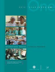 2012 IMO Annual Report - Heineman Foundation of Charlotte