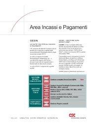 Area Incassi e Pagamenti - CSC