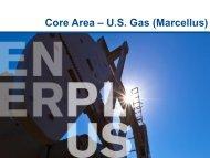 Core Area – U.S. Gas (Marcellus) - Enerplus