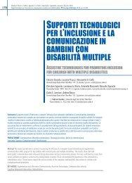 Supporti tecnologici per l'inclusione e la comunicazione in bambini ...