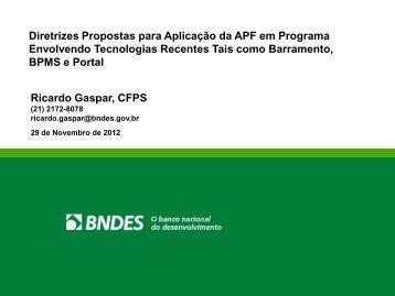Diretrizes Propostas para Aplicação da APF em Programa ...