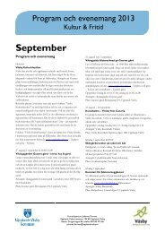Programblad september 2013 - Upplands Väsby kommun