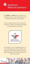 berufundfamilie - Sparkasse Märkisch-Oderland
